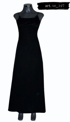 Vestido Largo Color Negro Liz Minelli - $ 340.00