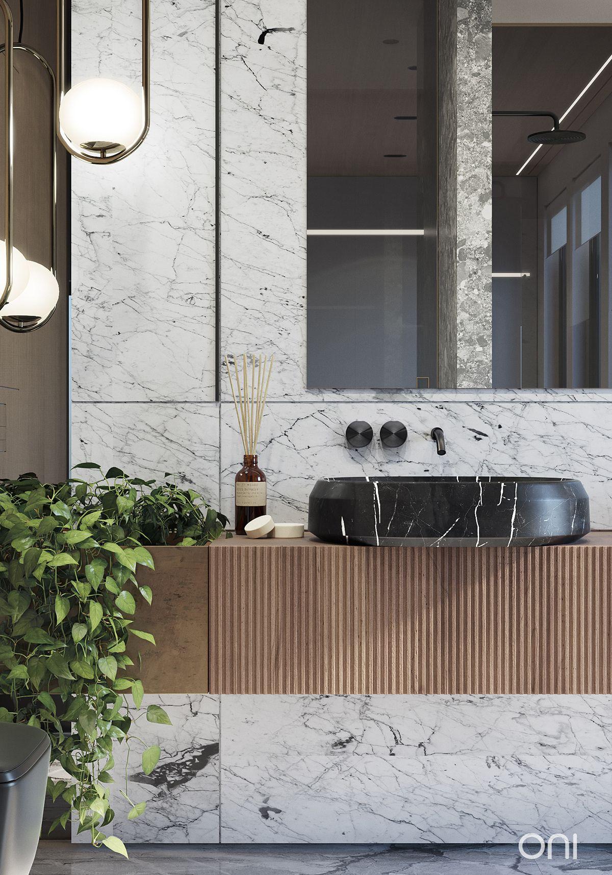 Residence In Seattle On Behance Washroom Design Bathroom Design