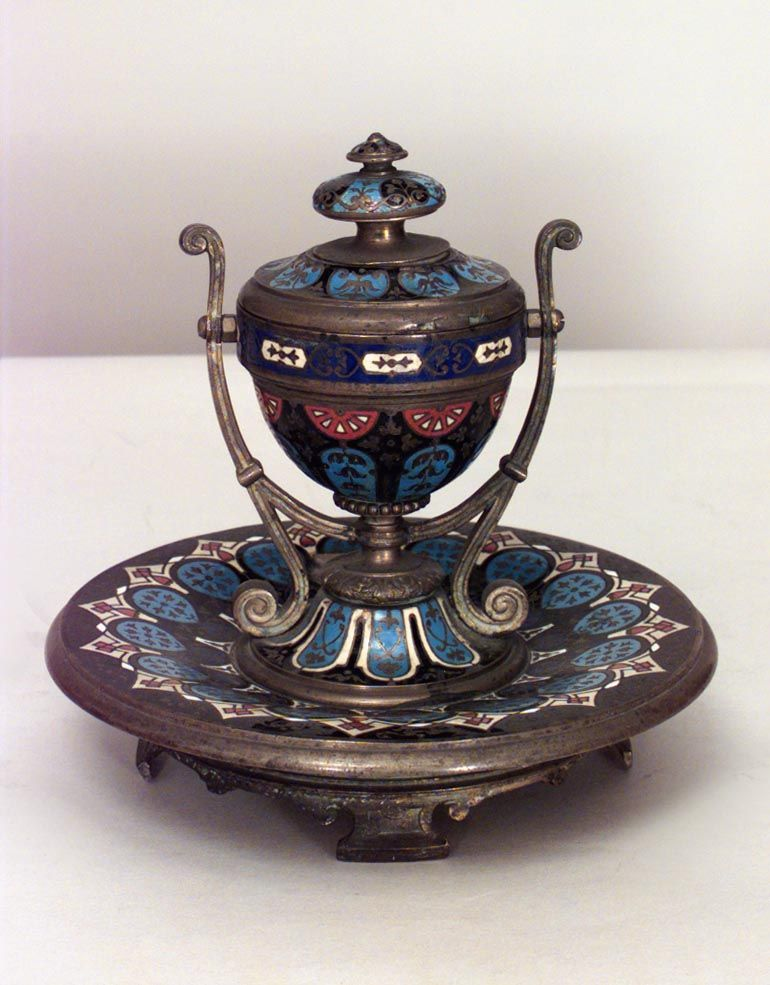 French Victorian inkwell