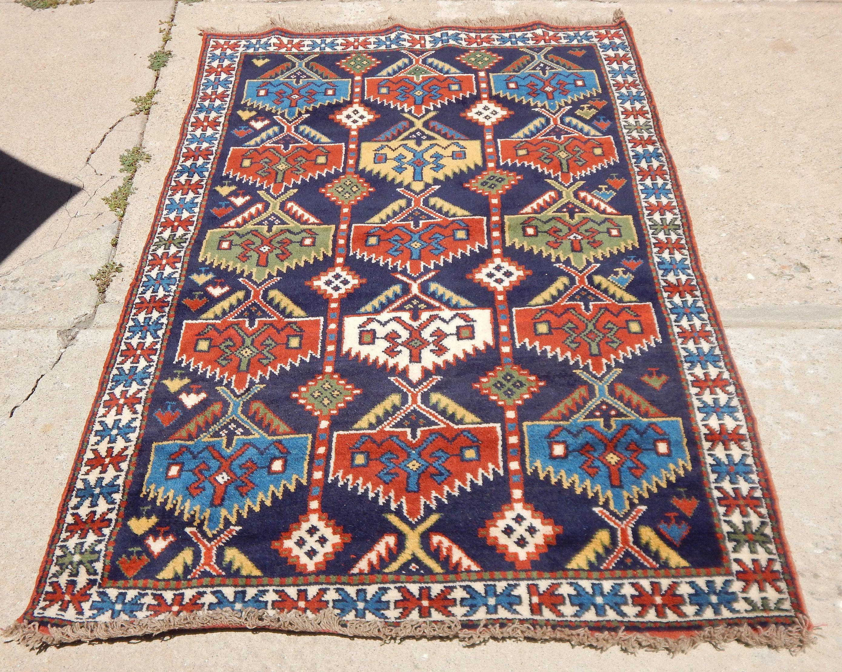 Vintage Afghan Tribal Village Rug Etsy Rugs Tribal Rug Afghan Rugs