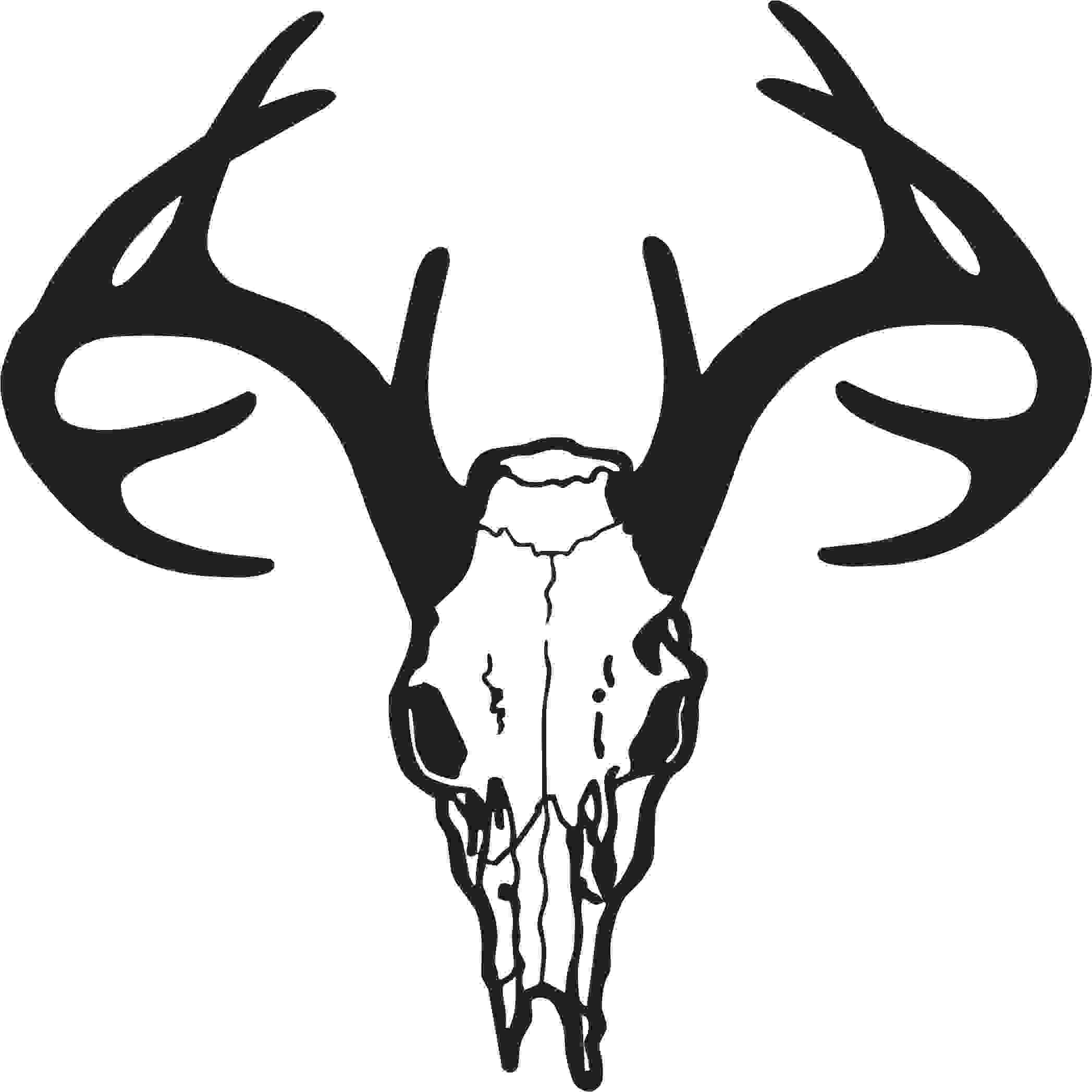 This is best Deer Skull Clip Art Deer Skull Drawing Free