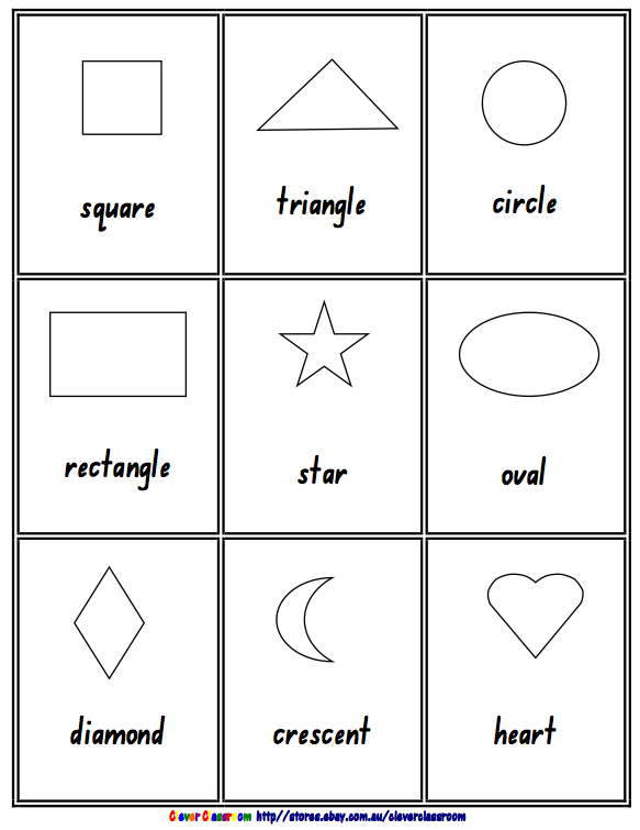 Free Math Lesson 2d 3d Shape Posters Black And White