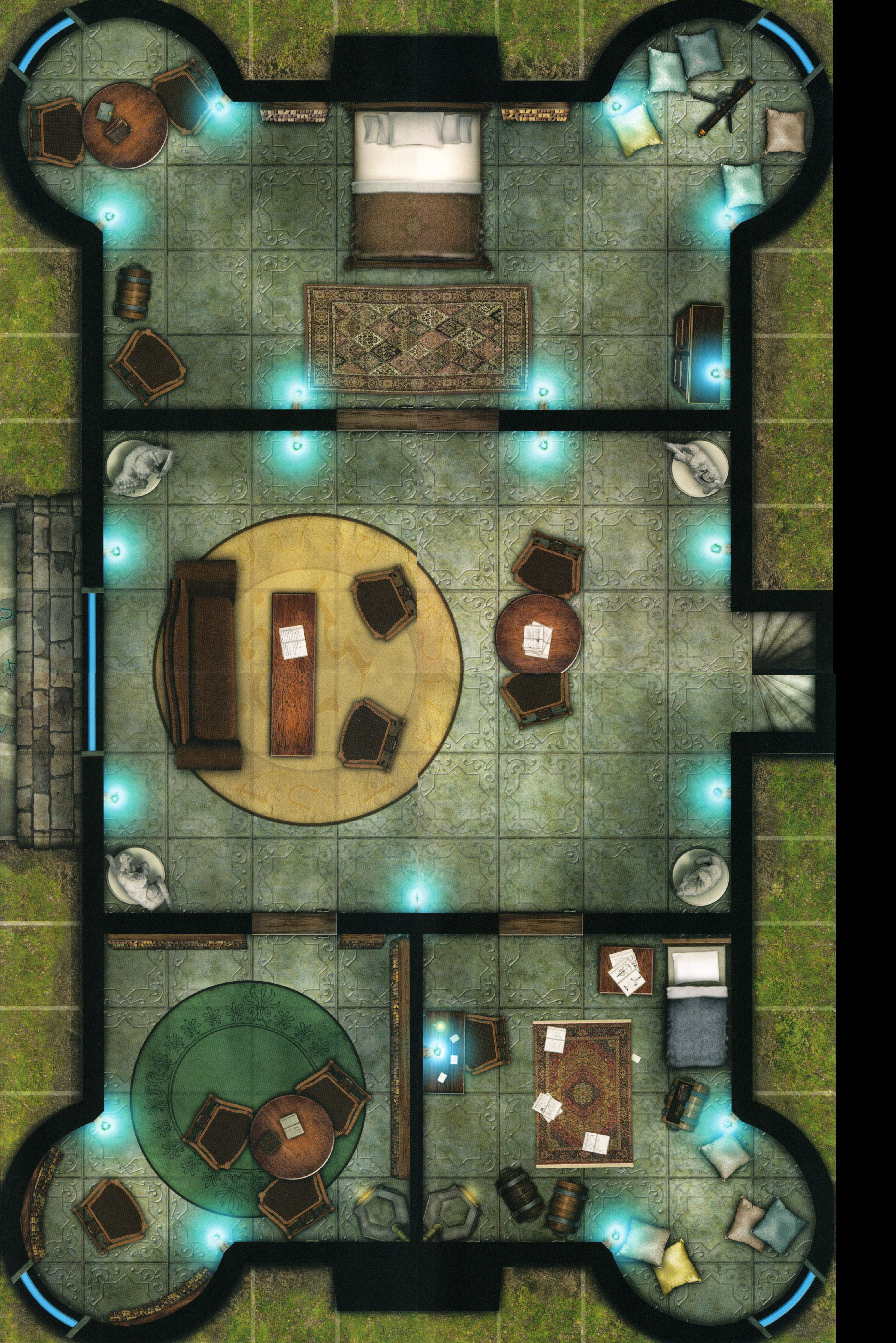 Manor House Living Room Bedrooms Tabletop Rpg Maps Fantasy Map Dungeon Maps