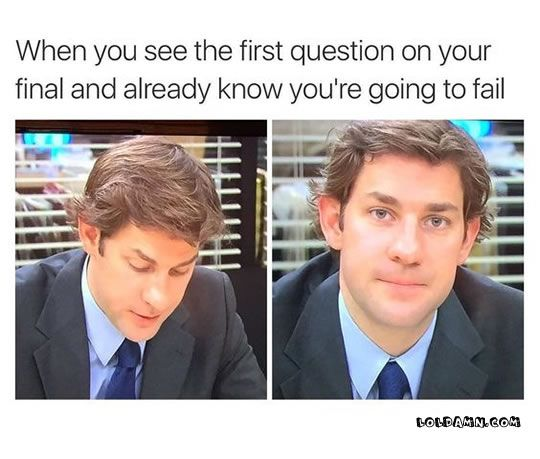 1 In The Middle Of An Exam 2 Taking The First Question Of Your Final 3 Every Morning In The College Class 4 Unusual Sle Funny Pictures Funny Memes Memes