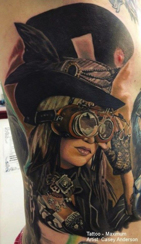 Zylinder Madchen Steampunk Tattoo Steampunk Girl Steampunk World
