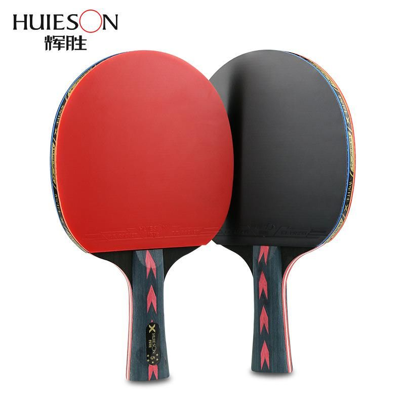 2pcs Upgraded 5 Star Carbon Table Tennis Racket Set Lightweight Powerful Ping Pong Paddle Bat With Good Control With Case Table Tennis Racket Table Tennis Ping Pong Paddles