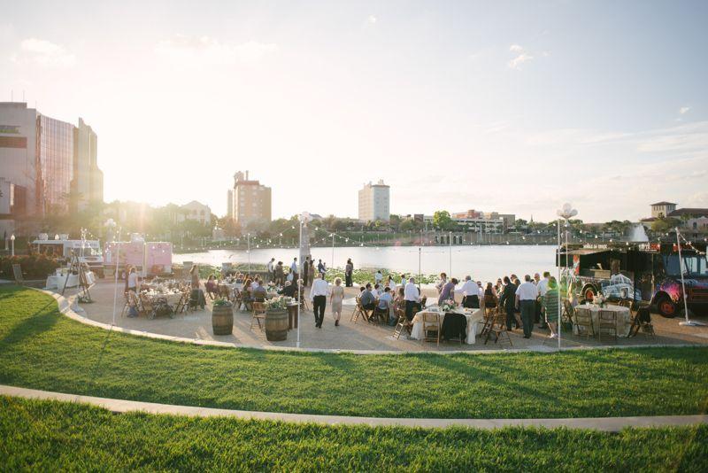 Loggia at Lake Mirror Wedding | Wedding Reception Space