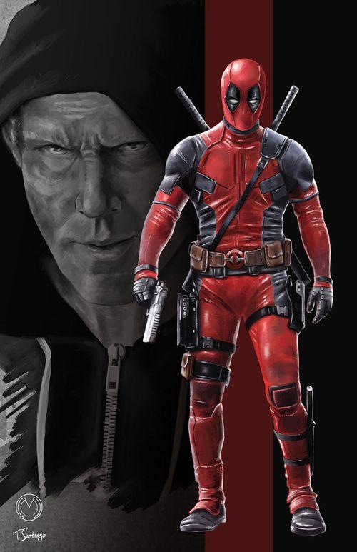 #Deadpool #Fan #Art. (Deadpool Wade Wilson Marvel) By: Tony Santiago. (THE * 5 * STÅR * ÅWARD * OF: * AW YEAH, IT'S MAJOR ÅWESOMENESS!!!™)[THANK Ü 4 PINNING!!!<·><]<©>ÅÅÅ+(OB4E)