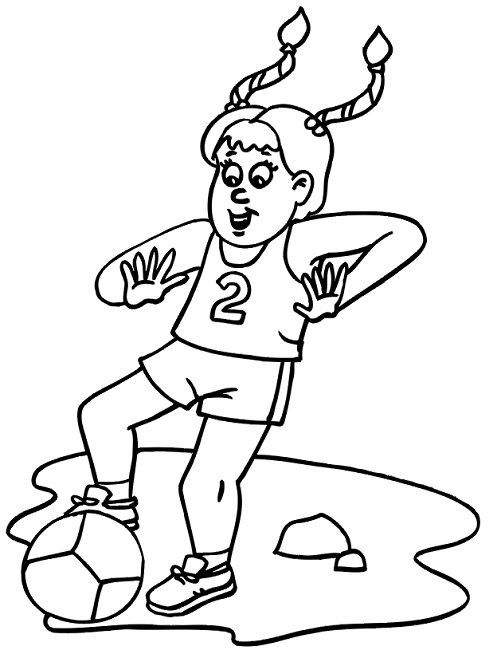 womens soccer coloring pages