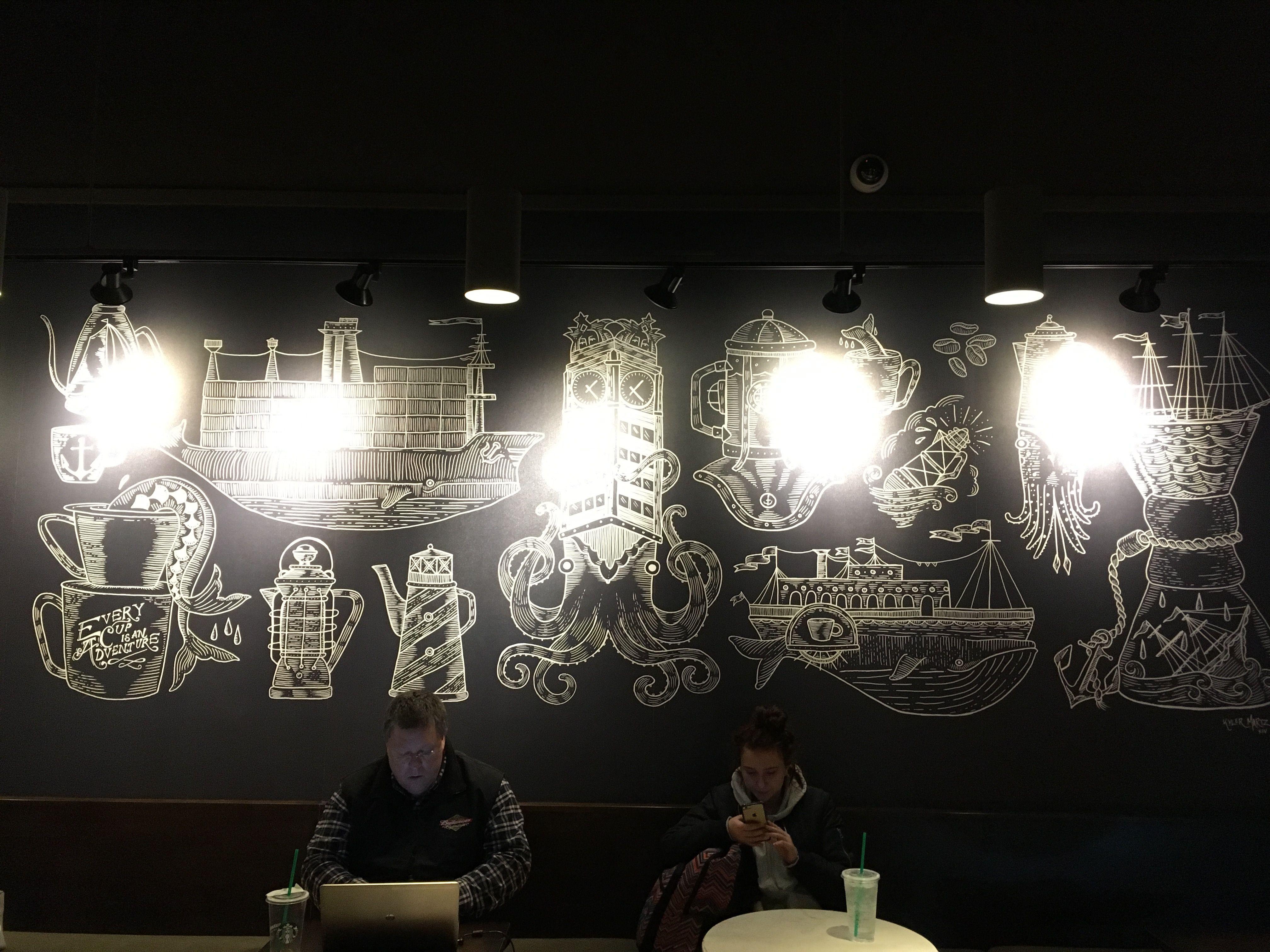 Chalkboard in kids hallway