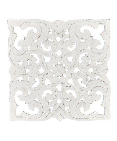 Loving This White Denzel Carved Medallion Wall Art On Zulily Zulilyfinds Medallion Wall Art Wall Medallion Carved Wood Wall Art