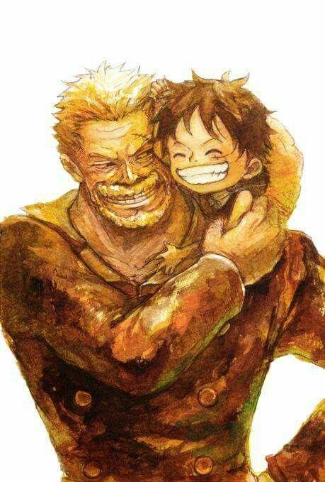 Monkey D. Luffy et Garp - One piece #art #manga