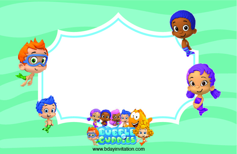 Cool FREE Printable Bubble Guppies Movie Birthday Invitation