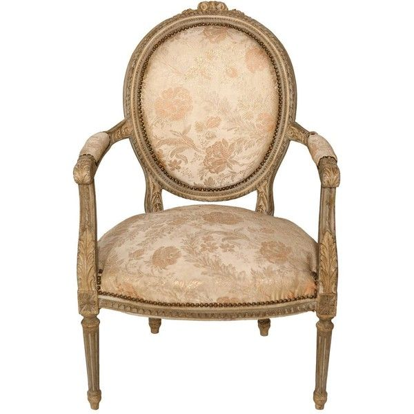 Louis XVI Style Armchairs $725 ❤ liked on Polyvore featuring home