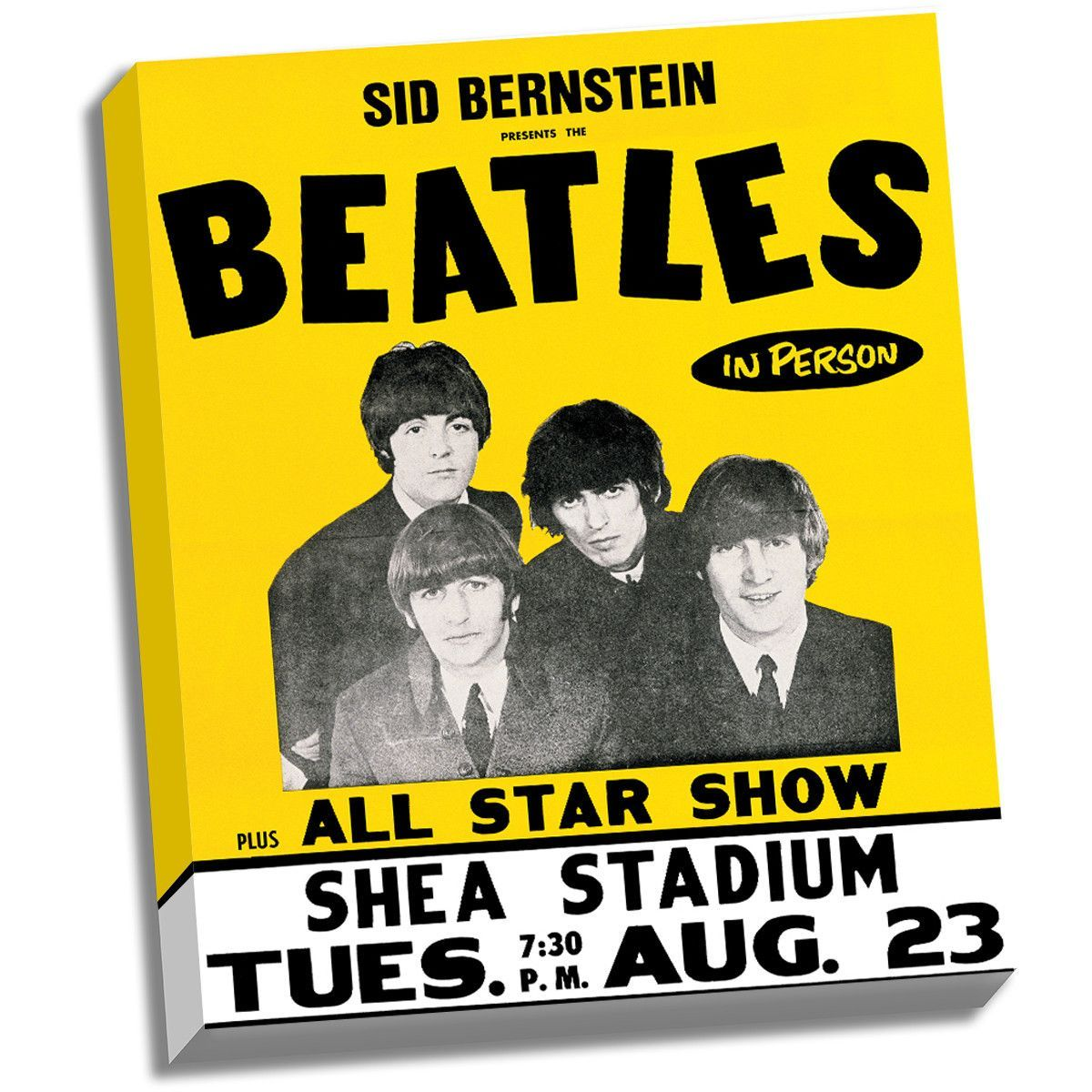 The Beatles Shea Stadium 8/23/66 Stretched 22x26 Canvas