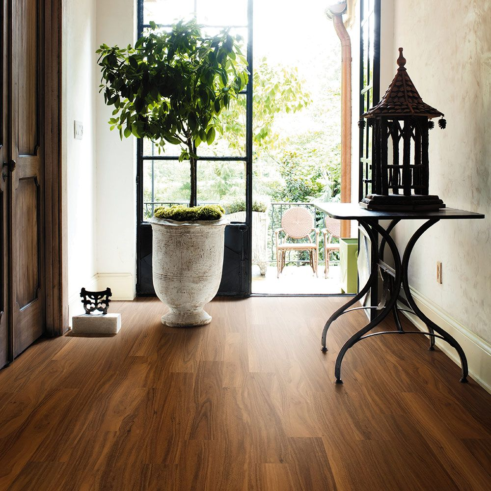 Inspired By The Warmth And Vitality Of The Tropics Burma Teak By Mannington Has A Rich Gra Luxury Vinyl Tile Luxury Vinyl Tile Flooring Vinyl Plank Flooring