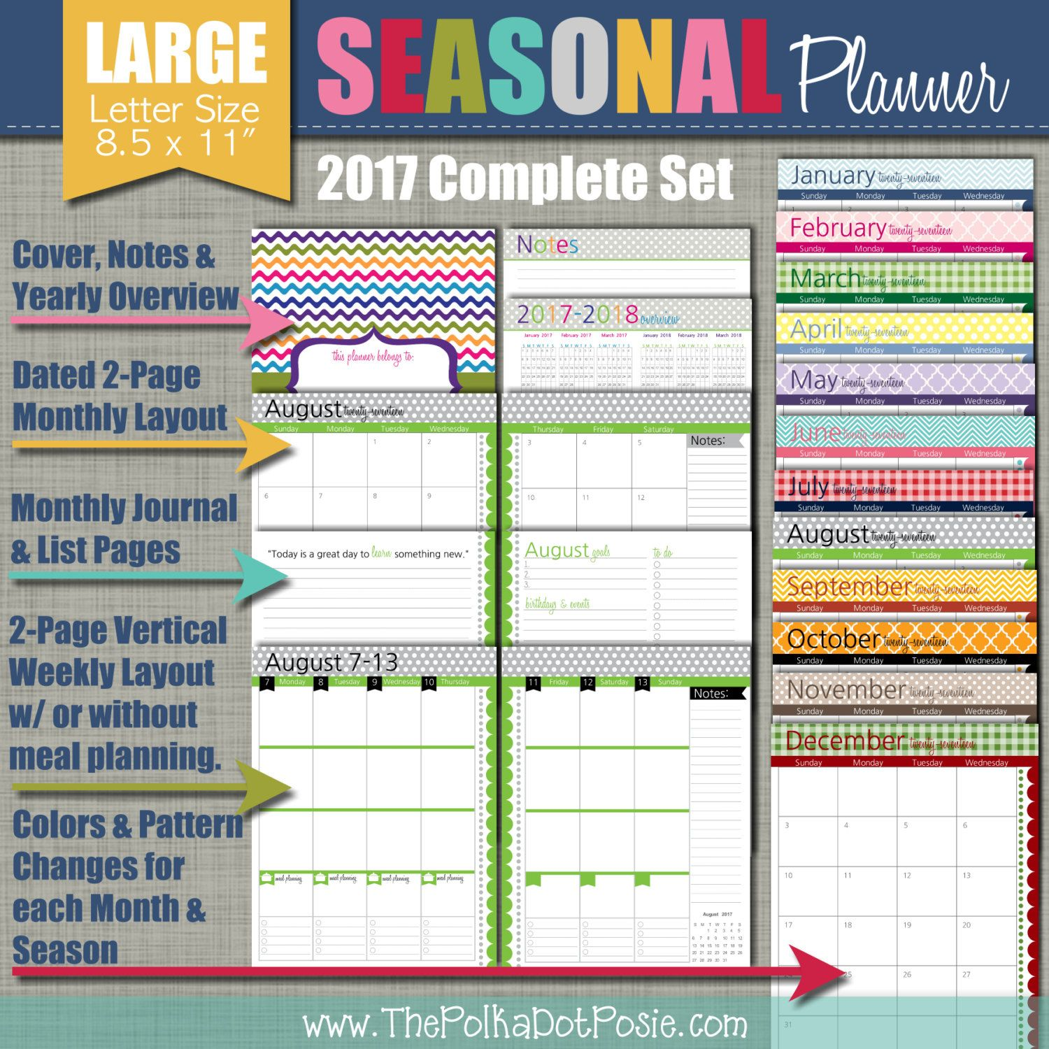PLANNER QUICK LINKS All Planner Pages can be found at