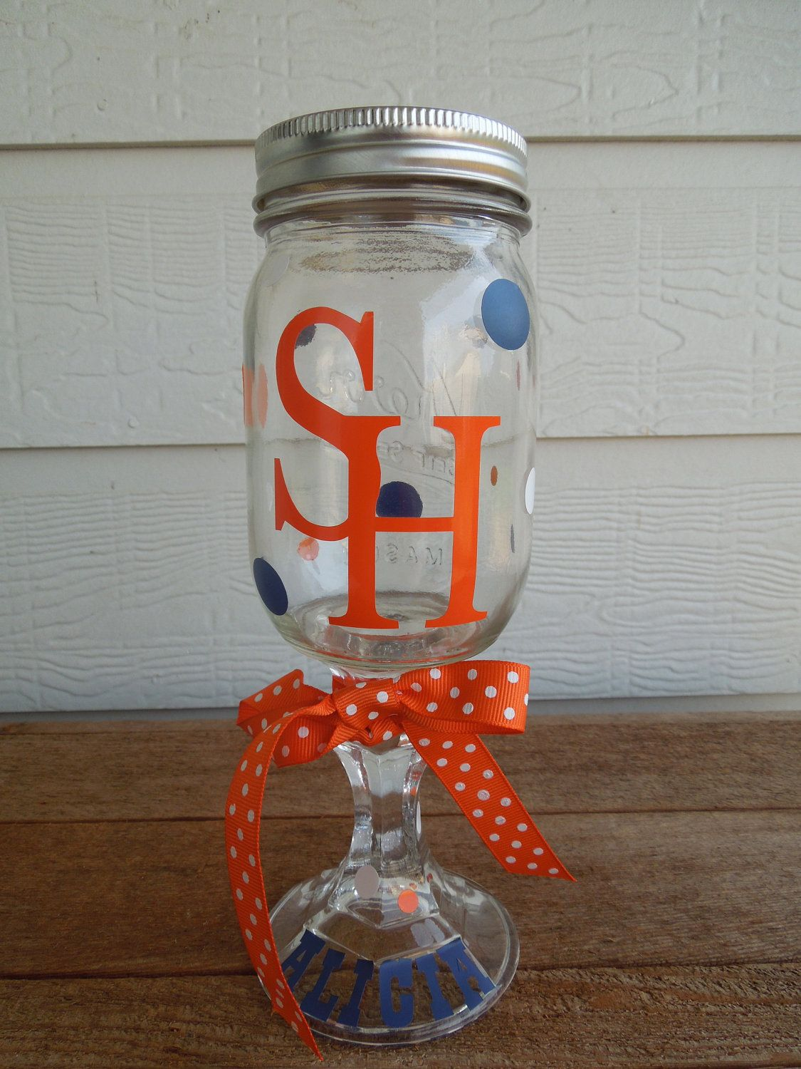 Personalized Red Neck Wine Glass - Bridesmaid - College - Sam Houston. $10.00, via Etsy.  Most colleges available, message me for availability!