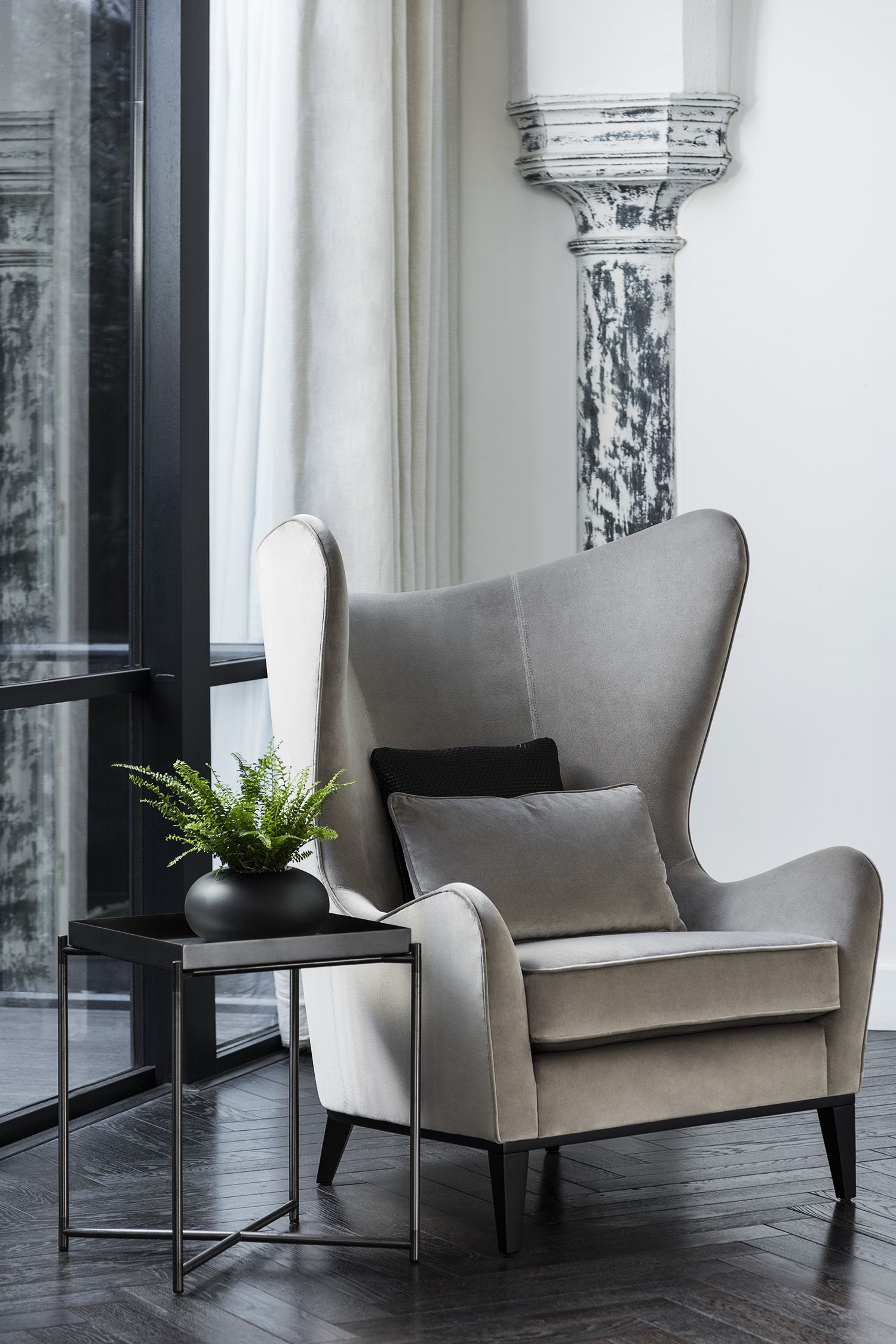 Our MONROE WINGBACK ARMCHAIR is a statement piece for your living