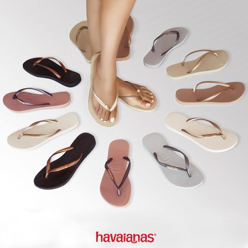 26ddf7b8e Havaianas Slim Metallic convey your sophisticated style and are a perfect  fit for both casual chic and dressier looks! Select your perfect shade at  ...