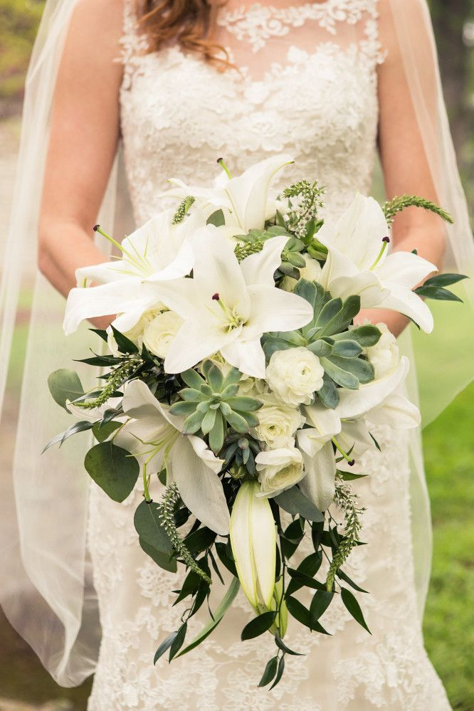 White Rose Hydrangea And Baby S Breath Bouquet White Bridal