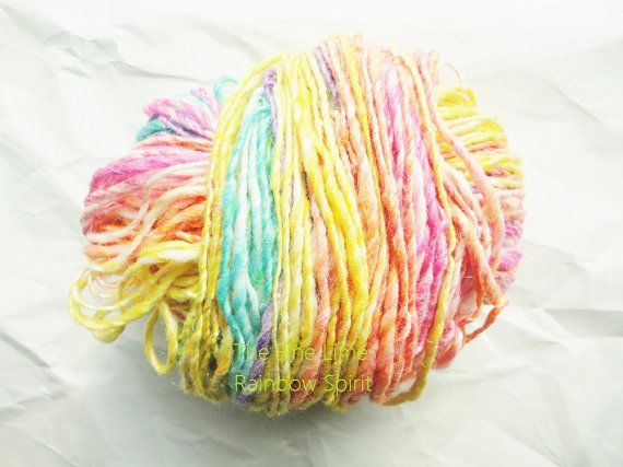 RESERVED for Lauren Merino Sparkle Handspun Self by thefinelime, $26.00