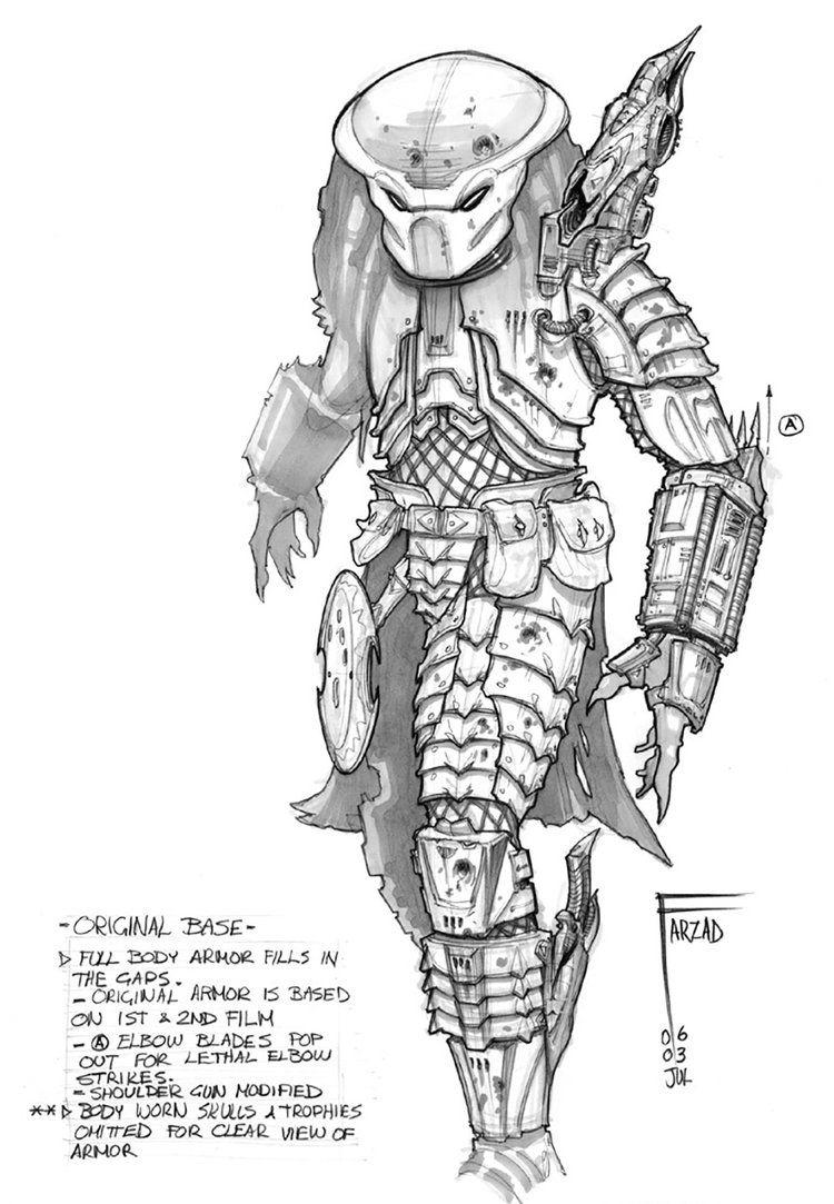 Alien vs predator sci fi fantasy spawn character concept concept art