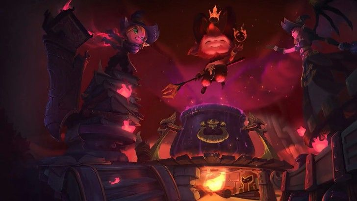 Little Devil Teemo Bewitching Morgana and Tristana Harrowing Theme Wallpaper