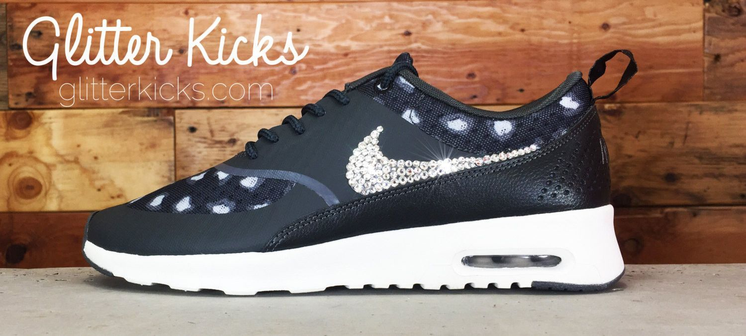 Nike Air Max Thea Print with Swarovski Crystals by Glitter Kicks ... cfd833829a