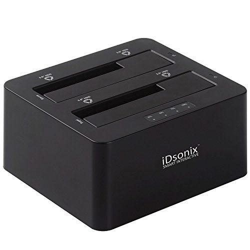 iDsonix USB 3.0 Dual Bay 2.5-Inch and 3.5-Inch SATA Hard Drive Docking Station (IDD-U3201-1)  Black