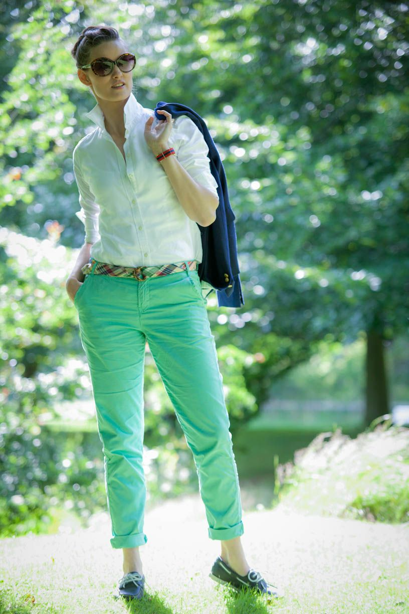 Love this look. Casual Prep at the Park: www.myfavoritefit.com