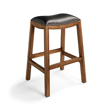 Teak Saddle Bar Stool Decorating ides Pinterest