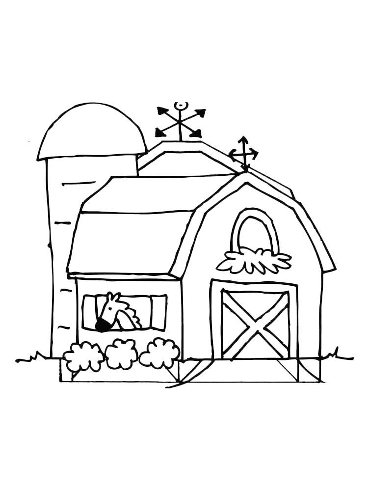 Old Barn Coloring Pages The Barn Is Structures Used For Storage Of Agricultural Products Such As Hay Grain And F Old Barn Cool Coloring Pages Coloring Pages