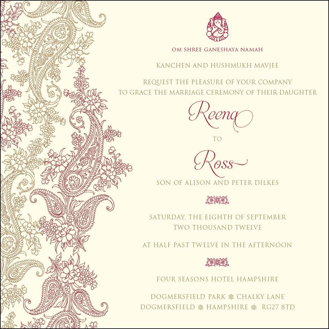 om shri ganeshaya namah wedding invitation wedding ideas