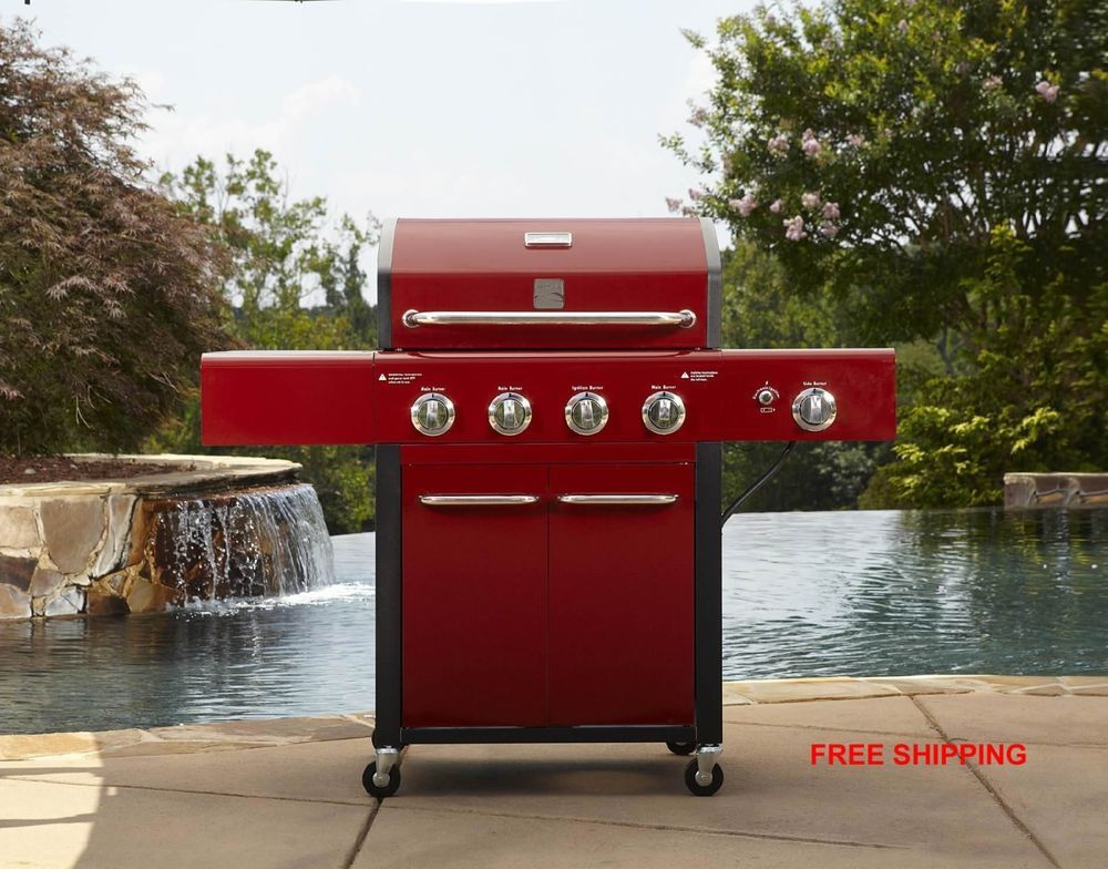 Propane Gas Grill Barbecue Grills Patio Char Broil Kenmore 4 Burner BBQ Cooking