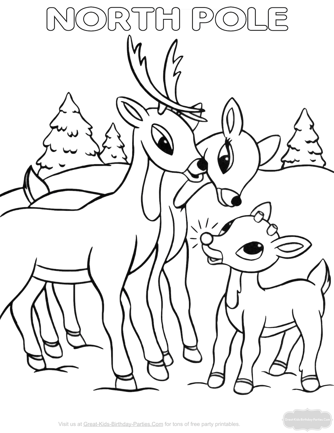 Free Christmas Coloring Pages | *~Christmas Delights!~* | Pinterest ...