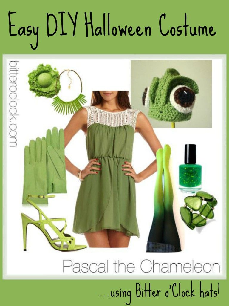 Easy Diy Halloween Costumes Pascal The Chameleon Diy Halloween Costumes Easy Chameleon Costume Diy Halloween Costumes