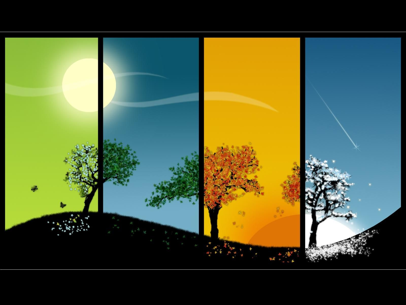 The four seasons Wallpaper | Changing seasons