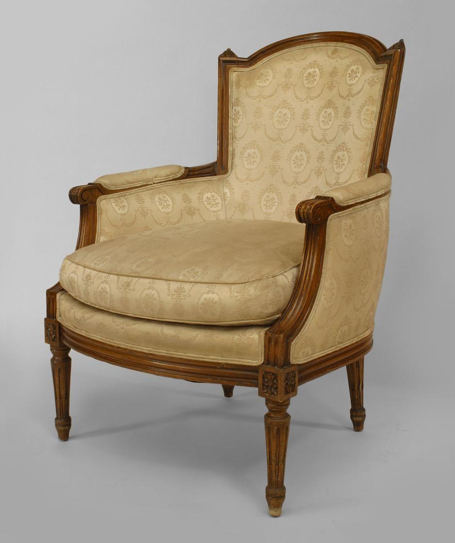 Antique louis xvi chair - French Louis Xvi Seating Chair Arm Chair Walnut