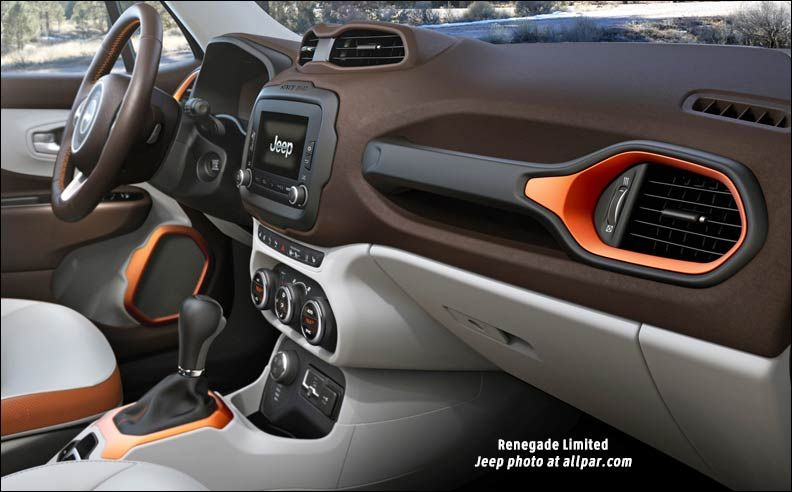 Jeep renegade interior - love the colors... I want to play!!