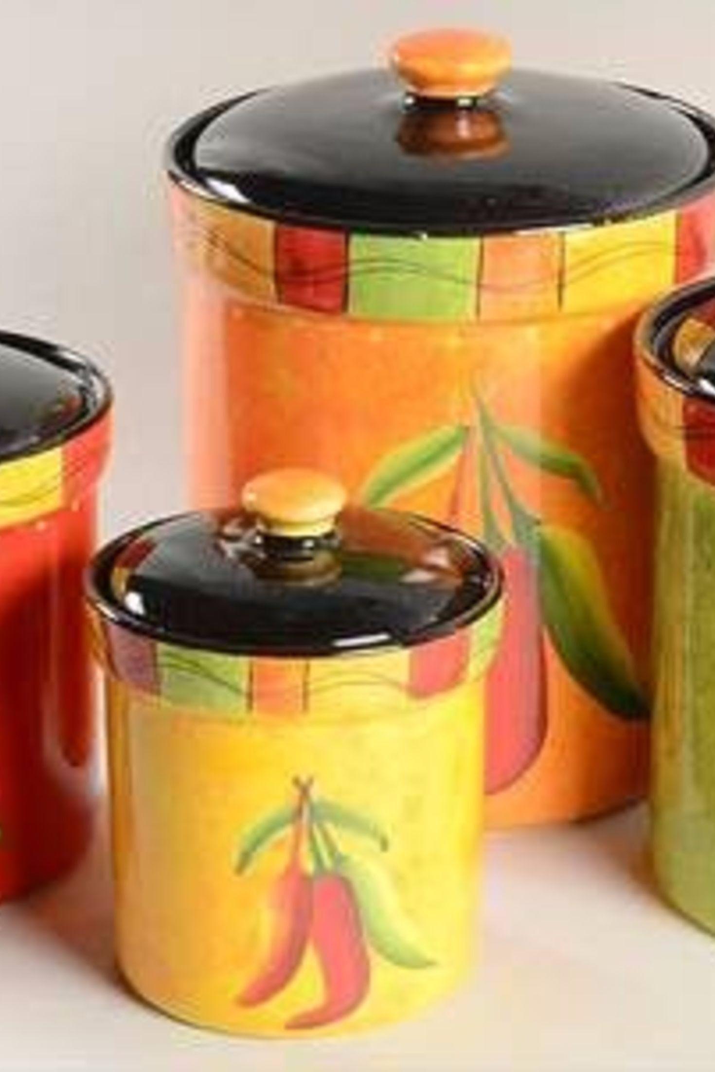 Chili Pepper Canister Set for Kitchen Storage. | chili pepper ...