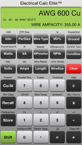6 Pro Calculators For Wiring And Electrical Readings For Android And Ios Electricity Volt Ampere Electrical Calculator