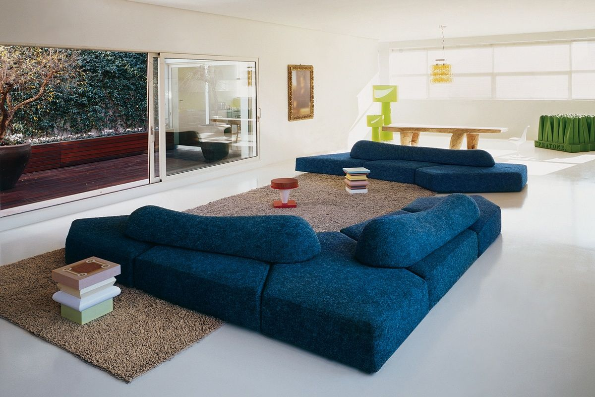 Edra, sofá modelo On the rocks modulable y reconfigurable diseñado por Francesco Binfare. Mobiliario de diseño para hogar, hoteles y contract. (Espacio Aretha agente exclusivo para España). 9550€