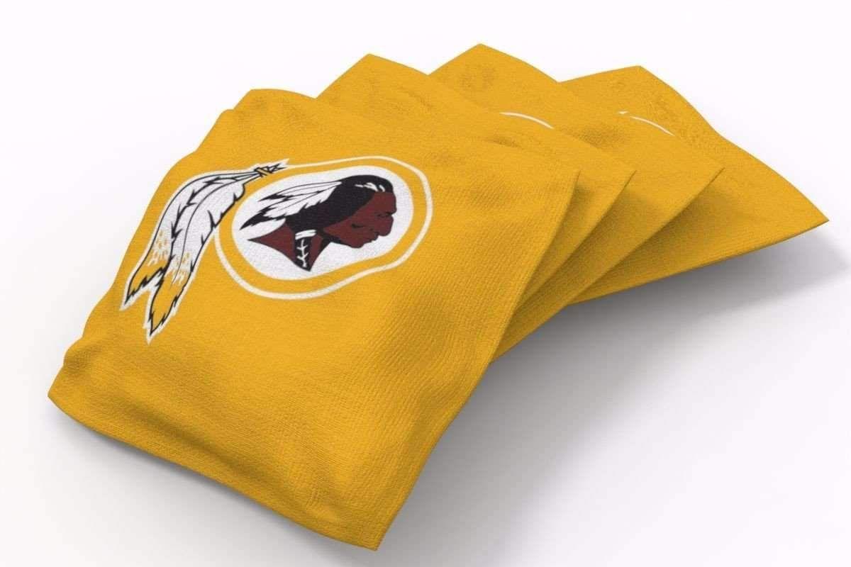 Admirable Washington Redskins Solid Bean Bags 4Pk B Products Uwap Interior Chair Design Uwaporg