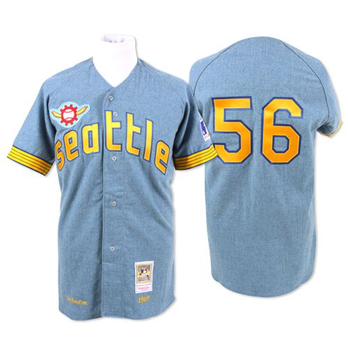 001174fe2 Seattle Pilots Authentic 1969 Jim Bouton Road Jersey by Mitchell   Ness   274.99