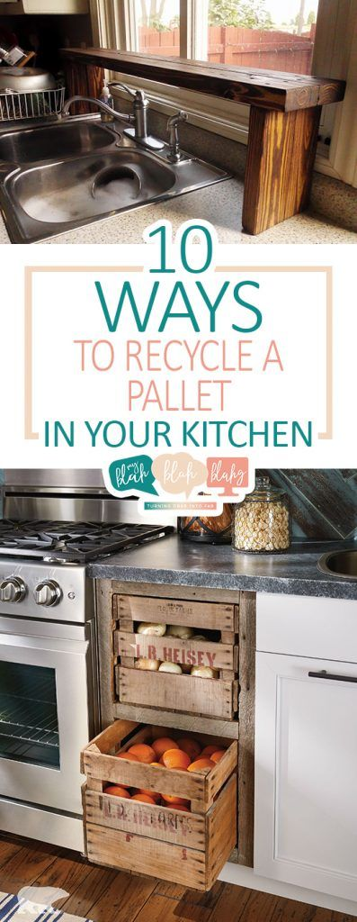 10 Ways to Recycle A Pallet In Your Kitchen| DIY Kitchen, Kitchen Craft Projects, Pallet Projects for the Kitchen, DIY Kitchen Hacks, Pallet Projects, How to Recycle Pallets, Pallet Home Decor, Popular Pin