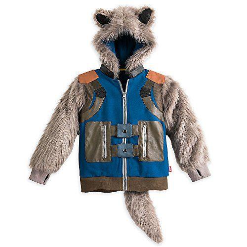 Guardians of the Galaxy Halloween Costume Hoodie Rocket Jacket GOTG Boys NEW
