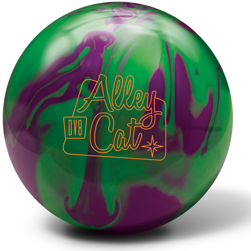 Alley Cat Purple Green Bowling Ball Bowling Ball Alley Cat Bowling