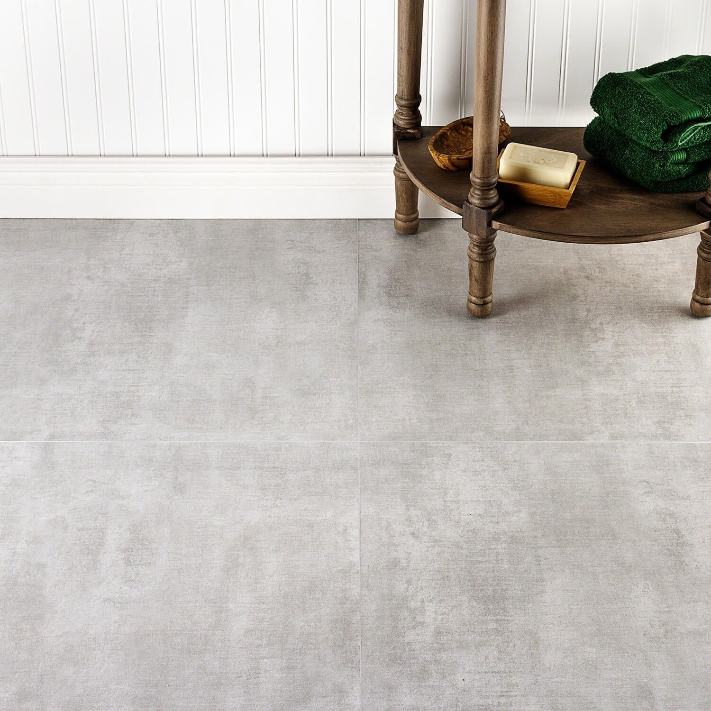 Basic Cement Silver 24x24 Matte Porcelain Tile Also Under 3 Concrete Look Tile Cement Tiles Bathroom Cement Tile Floor