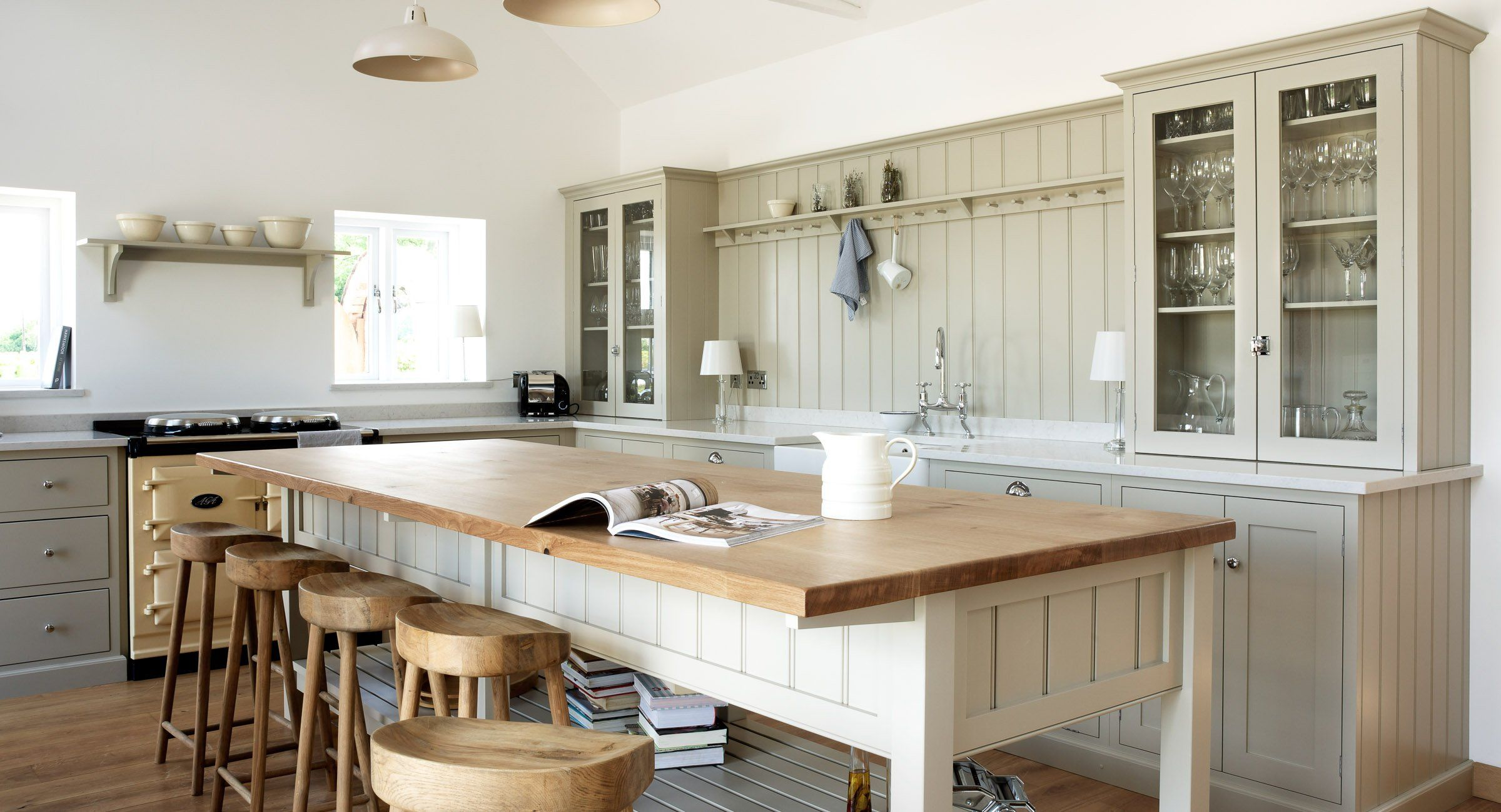 Warwickshire Barn Kitchen | deVOL Kitchens possible design for kitchen island minus tongue & groove.